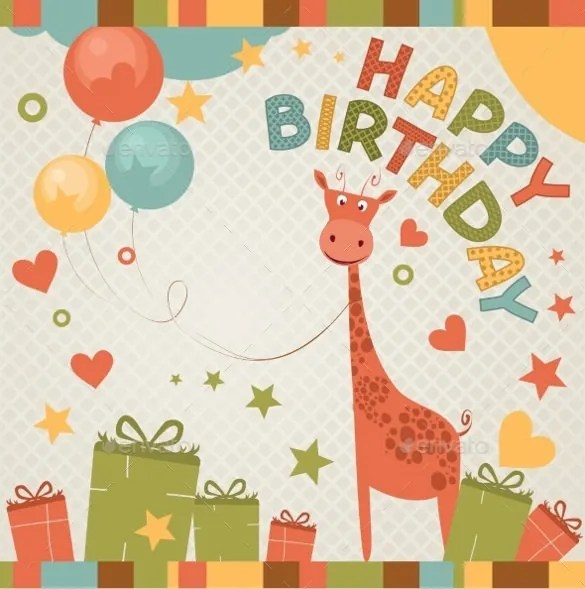 21+ Birthday Card Templates \u2013 Free Sample, Example, Format Download - happy birthday cards templates