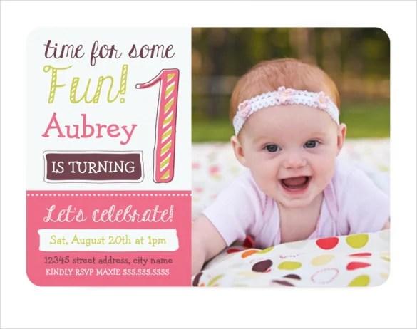 1st birthday invitations templates - Boatjeremyeaton - first birthday invitation templates free
