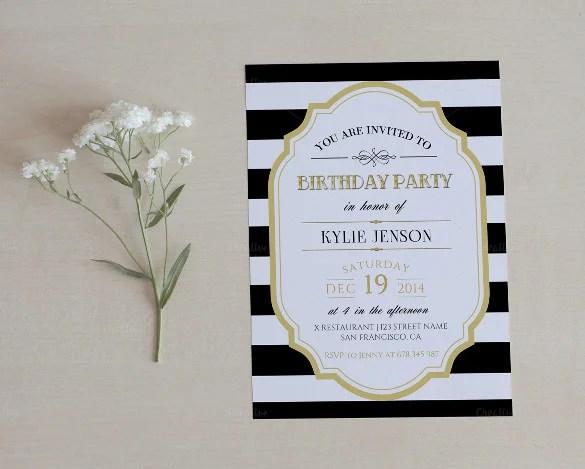 22+ Birthday Invitation Templates \u2013 Free Sample, Example, Format