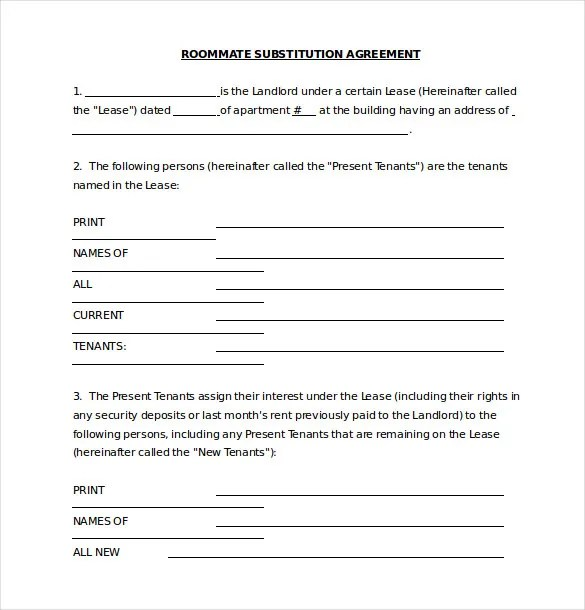 Roommate Agreement Template u2013 10+ Free Word, PDF Document Download - roommate agreement form
