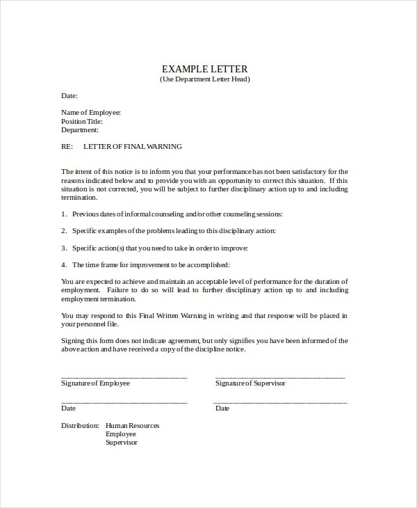 Notice Letter Template - 8+ Free Word, PDF Documents Download Free - final notice letter