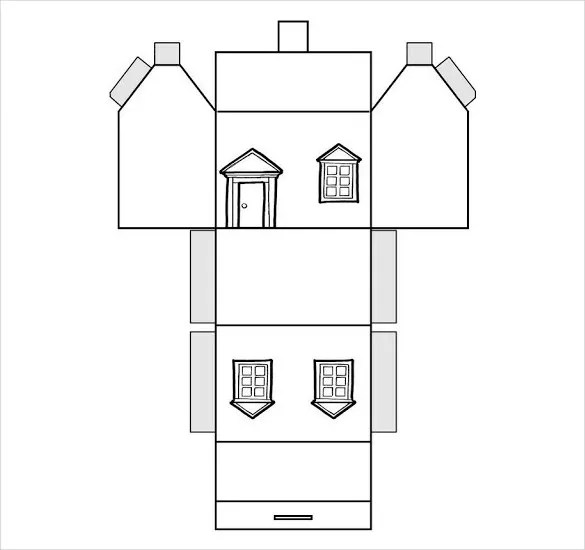 Paper House Template u2013 19+ Free PDF Documents Download Free - 3d graph paper