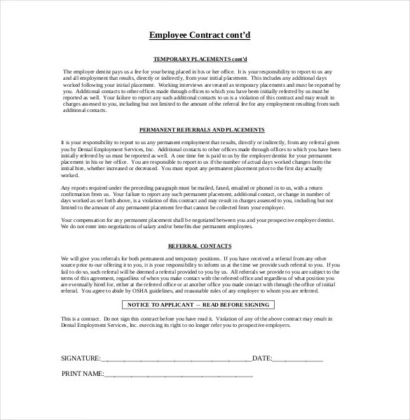 Training Contract Letter Example | Job Application Form Word Template