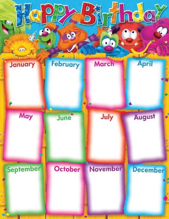 23+ Birthday List Templates u2013 Free Sample, Example, Format - classroom list template