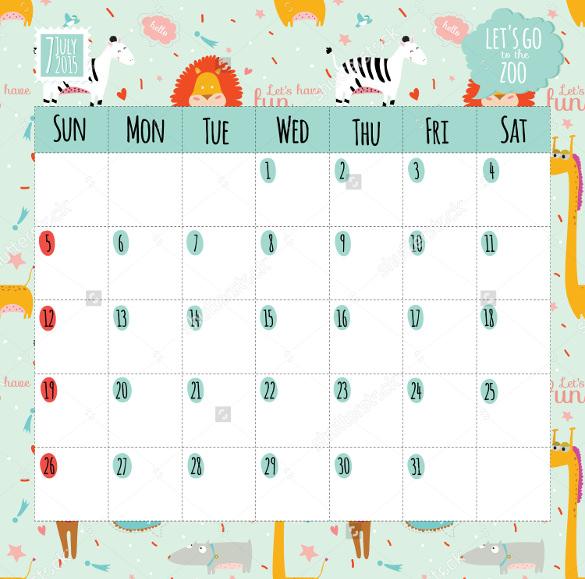 19+ Sample Birthday Calendar Templates - PSD, EPS, AI Free - calendar template