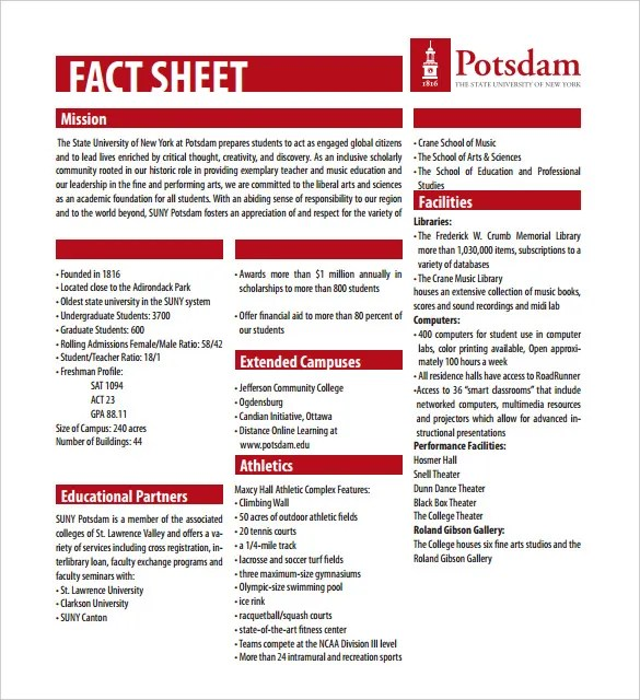 24+ Fact Sheet Templates - PDF, DOC Free  Premium Templates - information sheets templates