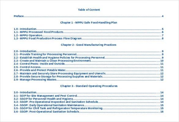 22+ Table of Contents \u2013 PDF, DOC Free  Premium Templates
