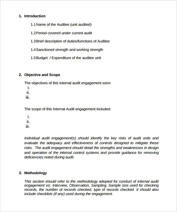19+ Internal Audit Report Templates - PDF, DOC Free  Premium - audit report sample