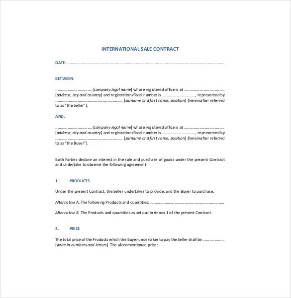 Sales Agreement Template - 27+ Word, PDF, Google Docs Document
