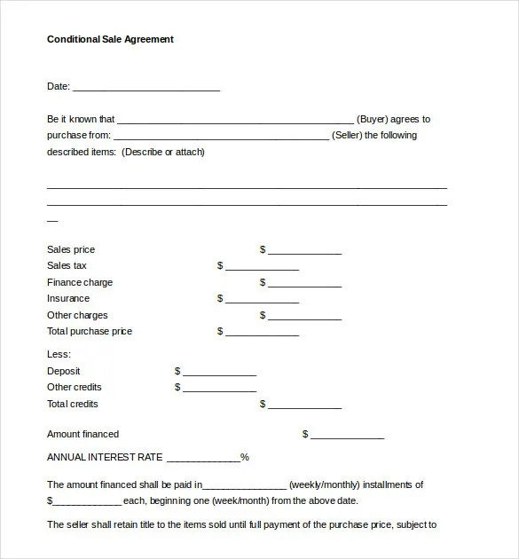Sales Agreement Template - 16+ Free Word, PDF Document Download