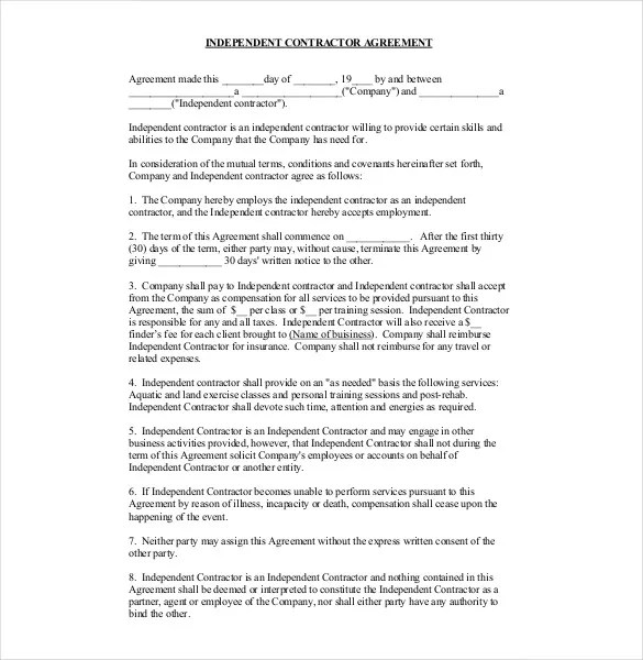Contract Agreement Atri Org With This Pdf Contractor Agreement