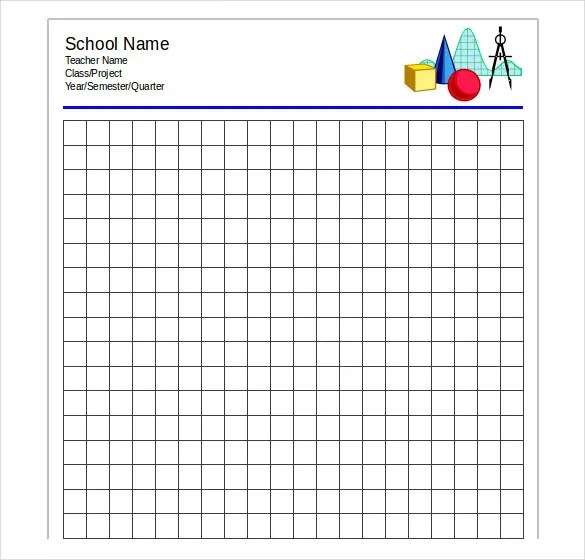 Excel Graph Paper Templates - mandegarinfo - free graph paper templates