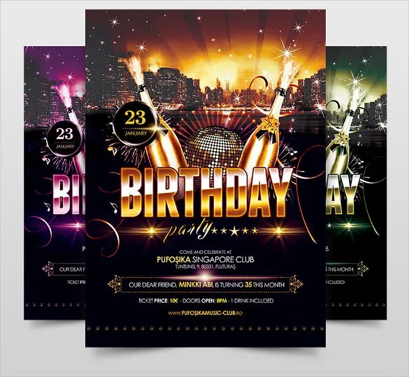 birthday flyers templates - Maggilocustdesign