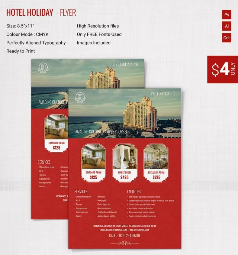 29+ Holiday Brochure Templates \u2013 Free PSD, EPS, AI, InDesign, Word - brochure format word