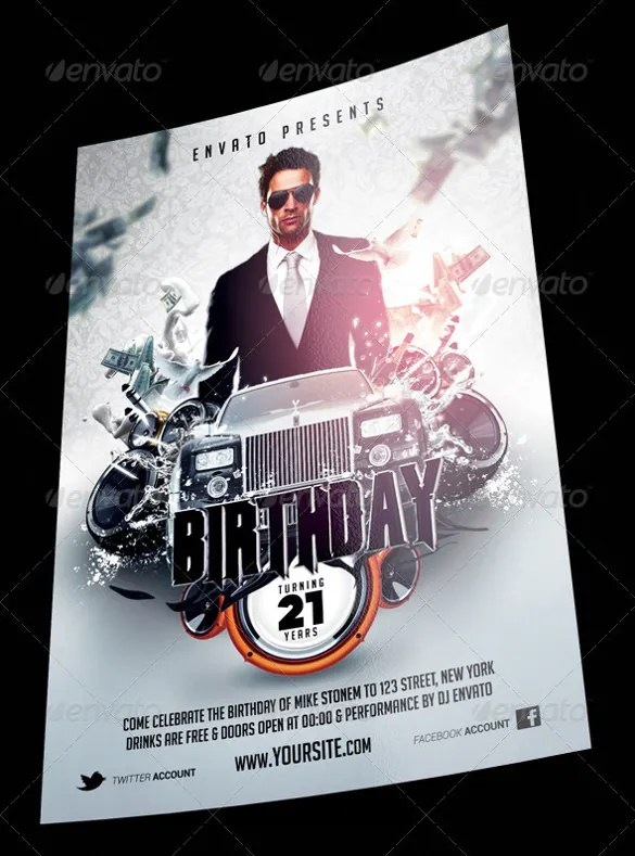 26+ Birthday Flyer Templates \u2013 Free Sample, Example, Format Download - birthday flyer templates free