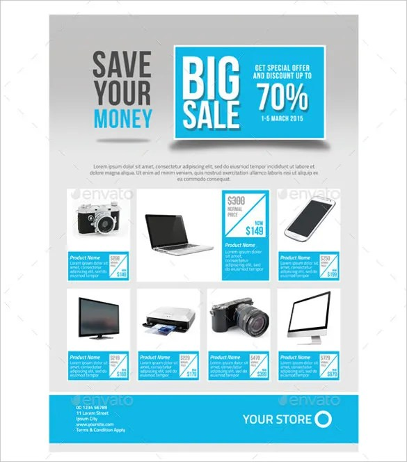 Sales Flyer Template - 75+ Free PSD Format Download Free  Premium - promotional flyer designs