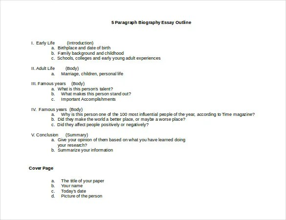23+ Autobiography Outline Templates  Samples - DOC, PDF Free