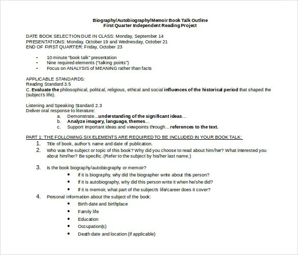 Free-Download-Autobiography-Outline-Doc-Format-Templatejpg (585 - good objectives for resume