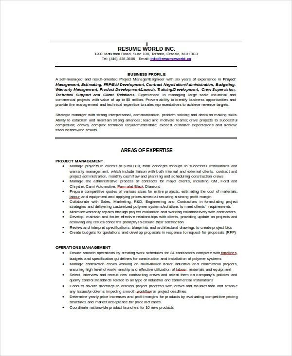 10+ Sample IT Resume Templates - PDF, DOC Free  Premium Templates