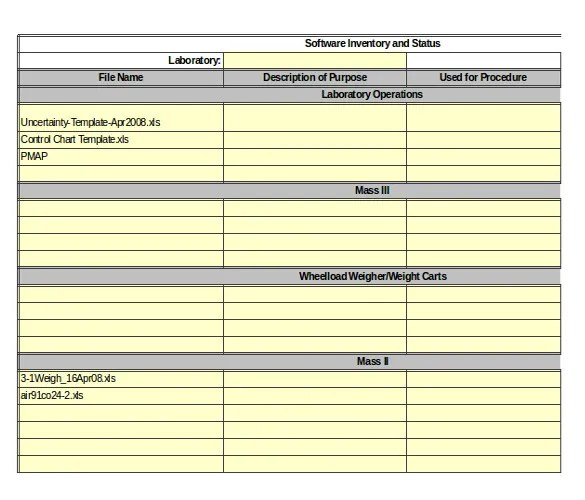 Server Inventory Template \u2013 13+ Free Excel, PDF Documents Download