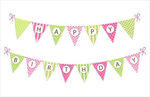 birthday banner templates - Alannoscrapleftbehind - free printable happy birthday banner templates