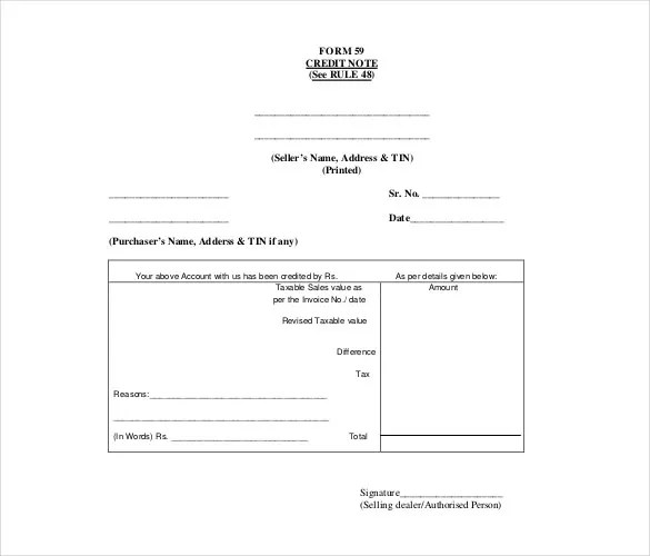 Credit Note Template - 19+ Free Word, PDF Documents Download Free - credit note letter