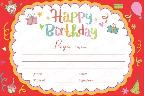 23+ Birthday Certificate Templates - PSD, EPS, In Design, Publisher