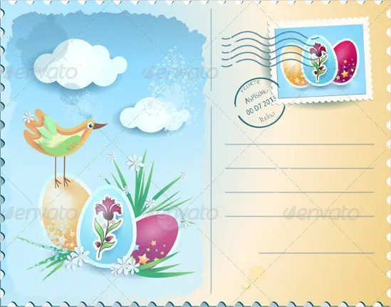 Easter Postcard Template \u2013 16+ Free PSD, EPS, Format Download Free
