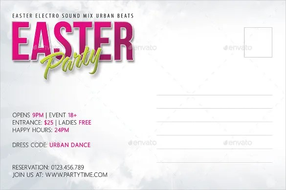 Easter Postcard Template Easter Card Template Archivi Easter