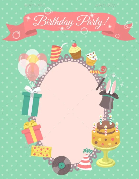 27+ Blank Birthday Templates \u2013 Free Sample, Example, Format Download - template for a birthday card