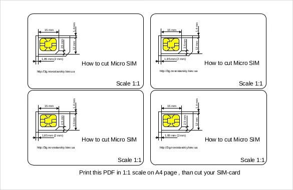 Micro Sim Template \u2013 10+ Free Word, PDF Documents Download Free