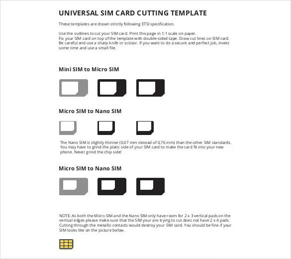 Micro Sim Template u2013 10+ Free Word, PDF Documents Download Free - micro sim template