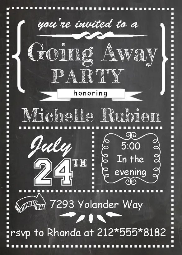 Farewell Party Invitation Template - 29+ Free PSD Format Download