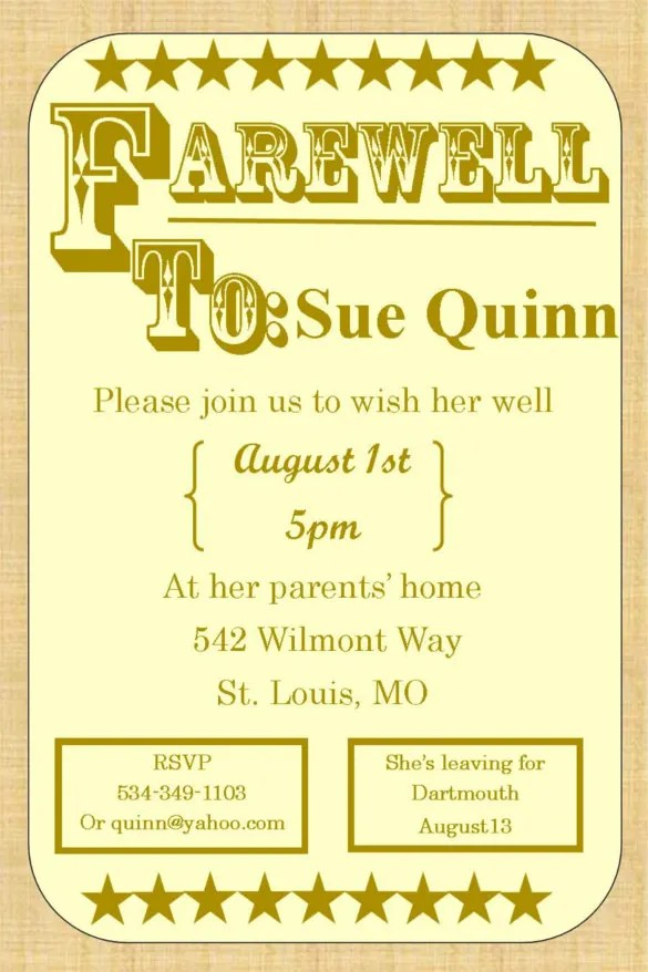 Farewell Party Invitation Template - 26+ Free PSD Format Download - farewell invitations templates