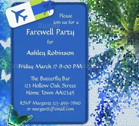 Farewell Party Invitation Template - 29+ Free PSD Format Download - goodbye party invitation templates