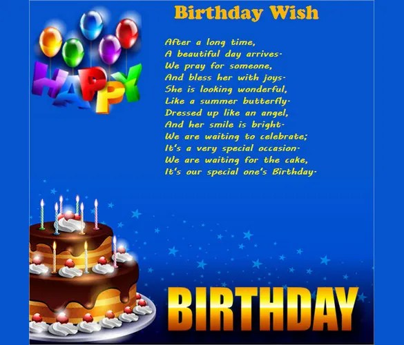 Sample Happy Birthday Email Birthday Email Template For Wishes