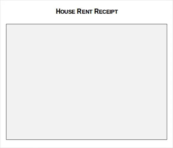 Rental Receipt Template - 39+ Free Word, Excel, PDF Documents - house rent format