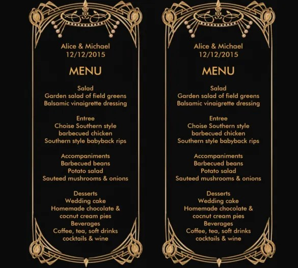 27+ Birthday Menu Templates u2013 Free Sample, Example, Format - sample drink menu template