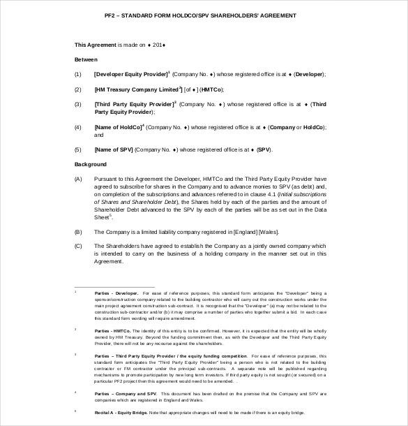 binding agreement sample