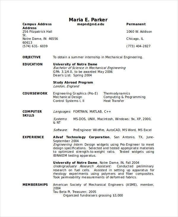 undergraduate research assistant resume sample