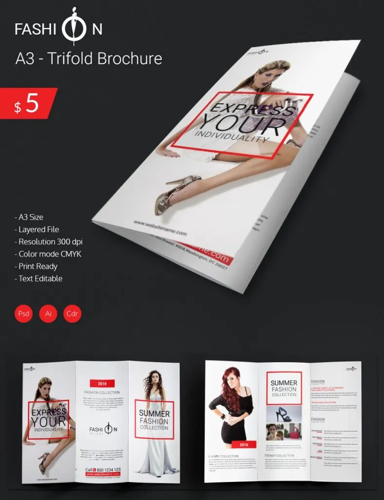 trifold brochure templates free