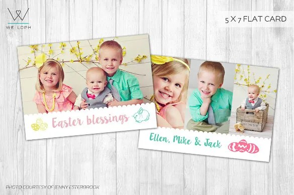 Easter Card Template - 29+ Free Printable PDF, JPG, PSD, EPS - easter greeting card template