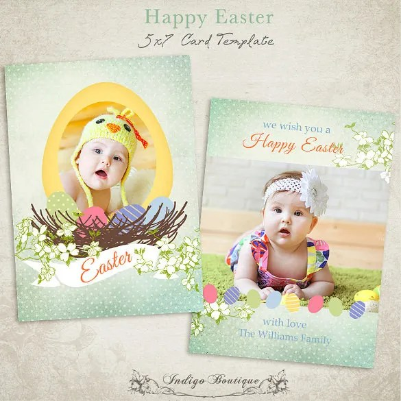 Easter Card Template - 29+ Free Printable PDF, JPG, PSD, EPS Format - easter greeting card template
