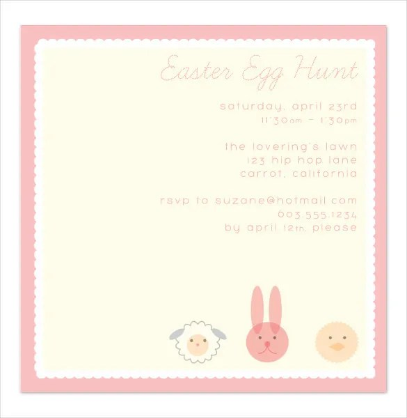 Easter Invitation Template \u2013 28+ PSD, EPS Format Download Free