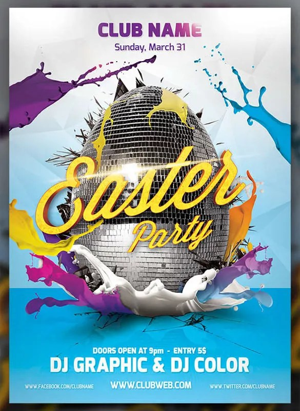 31+ Easter Flyers - Free PSD, AI, Vector EPS Format Download Free