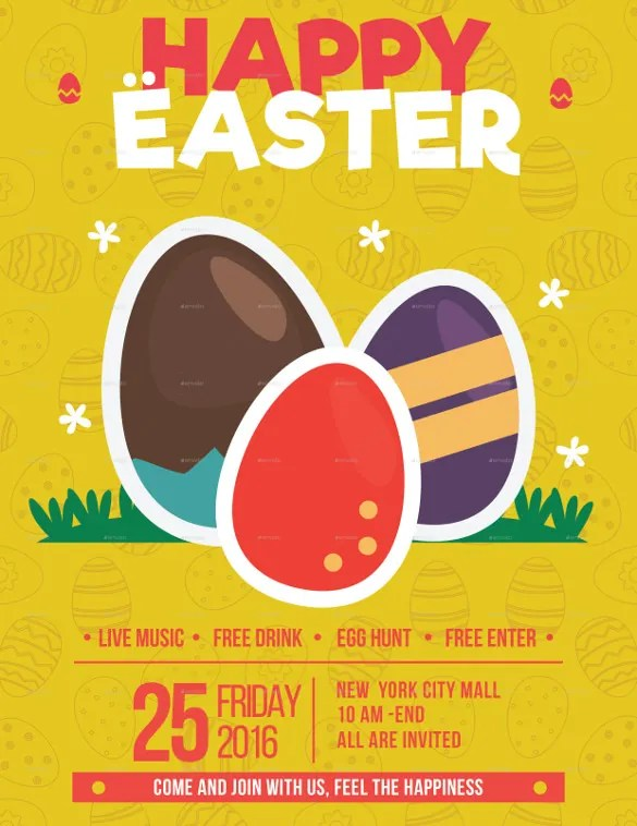 29+ Easter Flyer - Free PSD, AI, Vector EPS Format Download Free - easter flyer template
