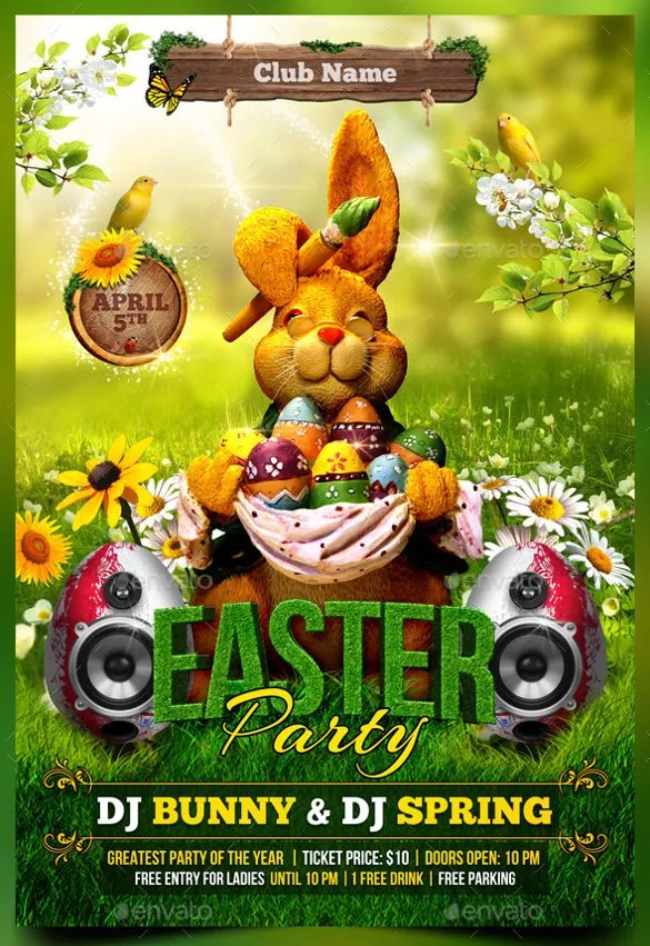 easter flyers templates free - Mersnproforum