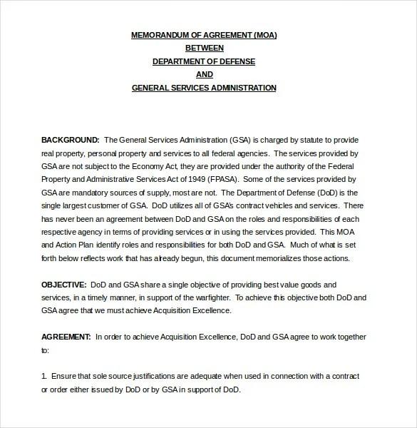 sample memorandum of agreement between two parties - Ozilalmanoof - agreements between two parties