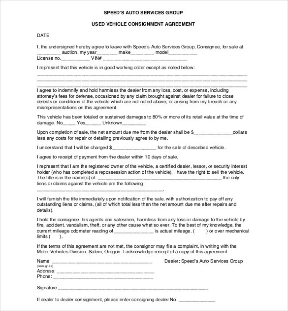 Consignment Agreement Template \u2013 12+ Free Word, PDF Document - Consignment Agreement Template