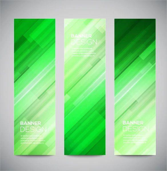 green banner template